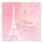 PixDezines Hiver à Paris /Eiffel Tower + swirls Personalised Invite