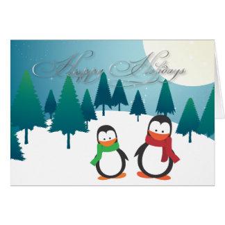 PixDezines Holiday Cards, penguins Greeting Card