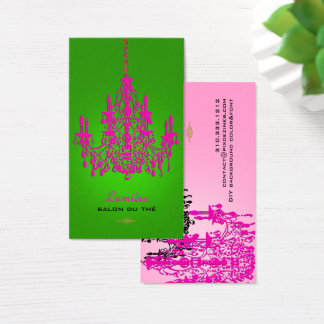 PixDezines hot pink crystal chandelier/DIY color Business Card