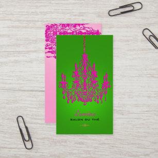 PixDezines hot pink crystal chandelier/DIY colour Business Card