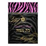 PixDezines Hot Pink Zebra Stripes, Bat Mitzvah