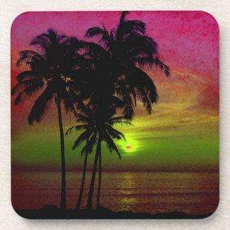 PixDezines hula sunset Drink Coaster