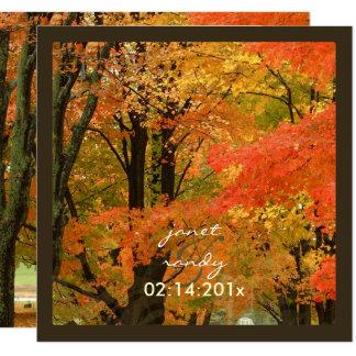 PixDezines in the woods, fall weddings/DIY events 13 Cm X 13 Cm Square Invitation Card