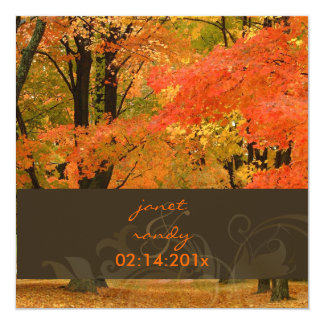 PixDezines in the woods, fall weddings/DIY events Personalized Invite