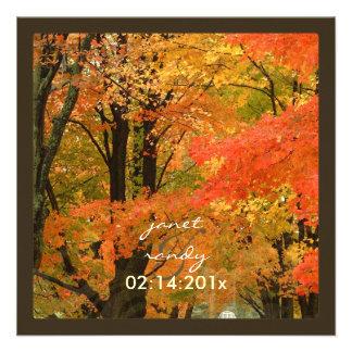 PixDezines in the woods, fall weddings/DIY events Invitations