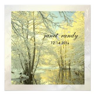 PixDezines In the Woods, Winter  Wedding Personalized Invite