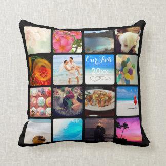 PixDezines Instagram It!/DIY background color Throw Pillow