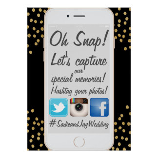 PixDezines iPhone Hashtag Us Sign for Events Poster