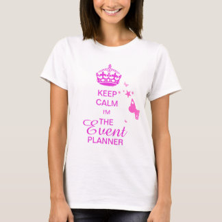PixDezines Keep Calm/Event Planner/DIY text T-Shirt