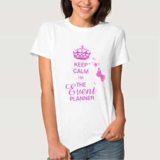 PixDezines Keep Calm/Event Planner/DIY text Tee Shirt