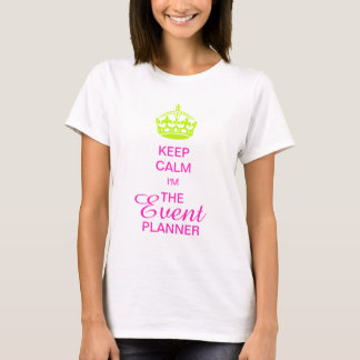 PixDezines Keep Calm/Neon Green Crown/DIY text T-Shirt
