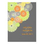 PixDezines Kiku (chrysanthemum), citrus colour Custom Invite