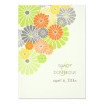 PixDezines Kiku (chrysanthemum), citrus colour Invitations