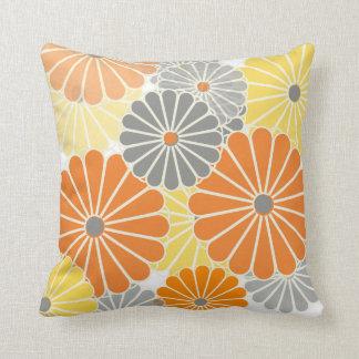 PixDezines kiku pink+orange/chrysanthemum Cushions