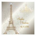 PixDezines La Tour Eiffel+Chandelier+Swirls Custom Invites