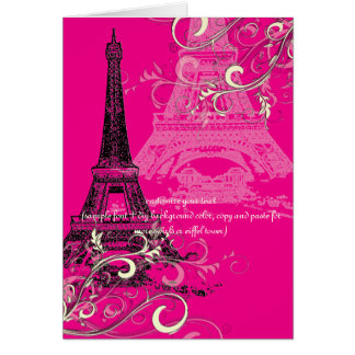 PixDezines la tour eiffel/paris Greeting Cards