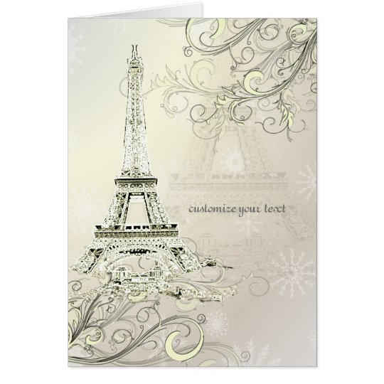 PixDezines la tour eiffel/paris Card