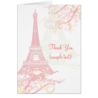 PixDezines la tour eiffel/paris Cards