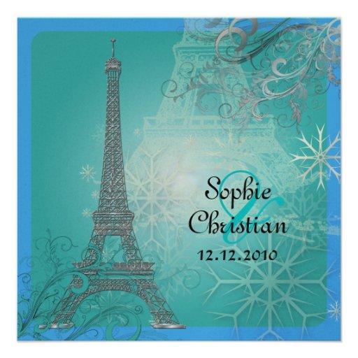 PixDezines la tour eiffel/paris Personalized Invite
