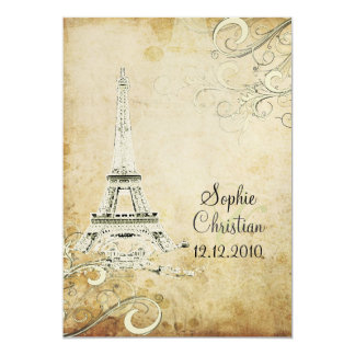 PixDezines la tour eiffel/paris Personalized Invite