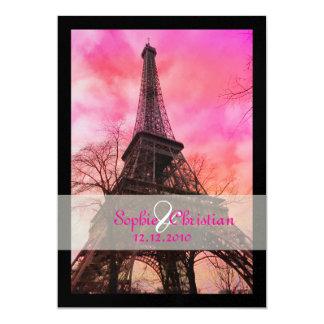 PixDezines la tour eiffel/paris 5x7 Paper Invitation Card