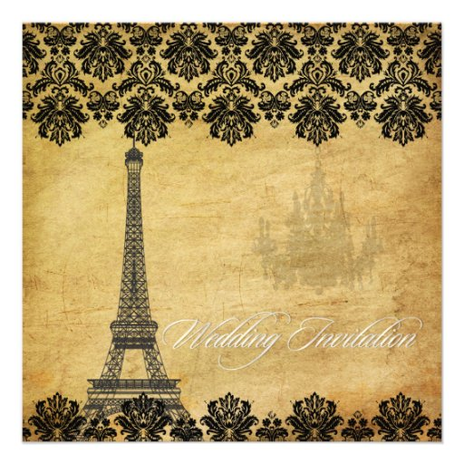 PixDezines la tour eiffel/paris Personalized Invites