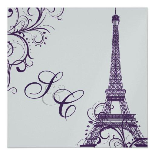 PixDezines la tour eiffel/paris Personalized Announcements