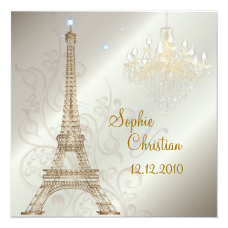 PixDezines la tour eiffel/paris Custom Invitations