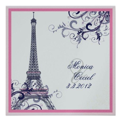 PixDezines la tour eiffel/paris Custom Invitation