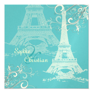 PixDezines la tour eiffel/paris Personalized Invites