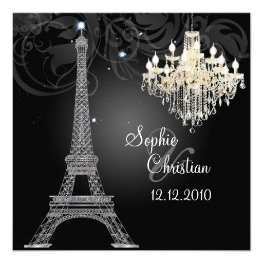 PixDezines la tour eiffel/paris Personalized Invitation
