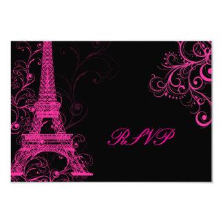 PixDezines la tour eiffel/paris 3.5x5 Paper Invitation Card