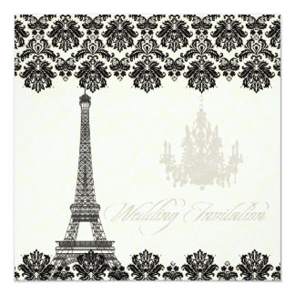 PixDezines la tour eiffel/paris Personalized Invitation