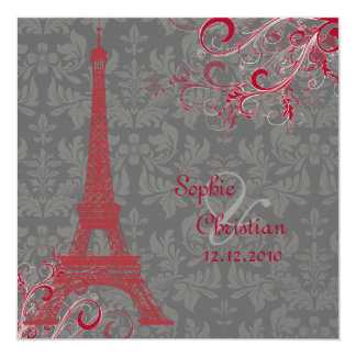 PixDezines la tour eiffel/paris Personalized Announcement