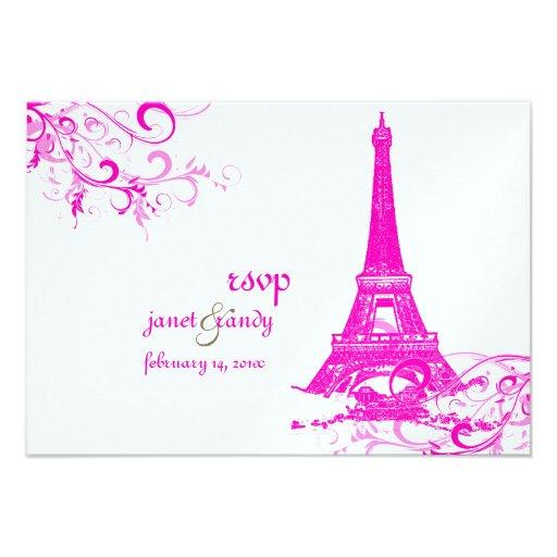 PixDezines la tour eiffel/paris Personalized Announcement