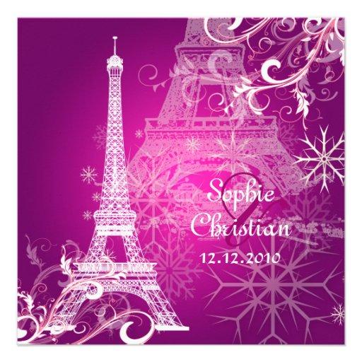 PixDezines la tour eiffel/paris Custom Invite