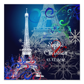 PixDezines la tour eiffel/paris Personalized Invitations