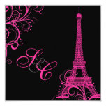 PixDezines la tour eiffel/paris 13 Cm X 13 Cm Square Invitation Card