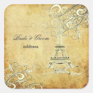 PixDezines la tour eiffel/paris Square Sticker