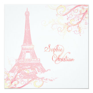 PixDezines La Tour Eiffel + swirls Custom Invite