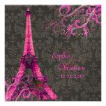 PixDezines La Tour Eiffel+Swirls Personalized Announcements