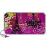 PixDezines La Tour Eiffel + swirls iPhone Speakers