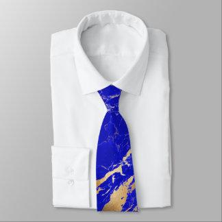 PixDezines Lapis Blue Marble Slab+Gold Veins Tie