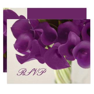 PixDezines LARGE RSVP Purple Calla Lilies/diy Card