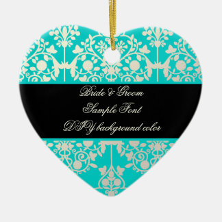 PixDezines leila damask/DIY background Christmas Ornament