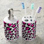 PixDezines leopard print/DIY background/pink/black
