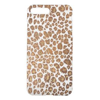 PixDezines Leopard Print/Faux Copper/DIY Bckgrnd iPhone 8 Plus/7 Plus Case