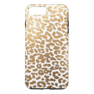 PixDezines Leopard Print/Faux Gold/DIY Background iPhone 8 Plus/7 Plus Case