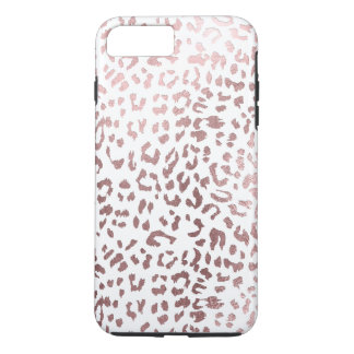 PixDezines Leopard Print/Faux Rose Gold iPhone 8 Plus/7 Plus Case
