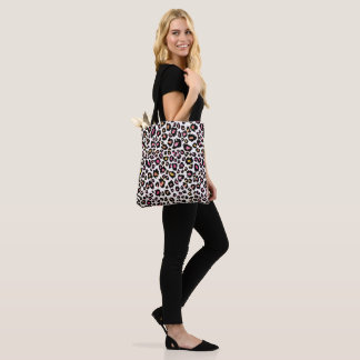 PixDezines Leopard Print/Pink+Orange/DIY bckground Tote Bag